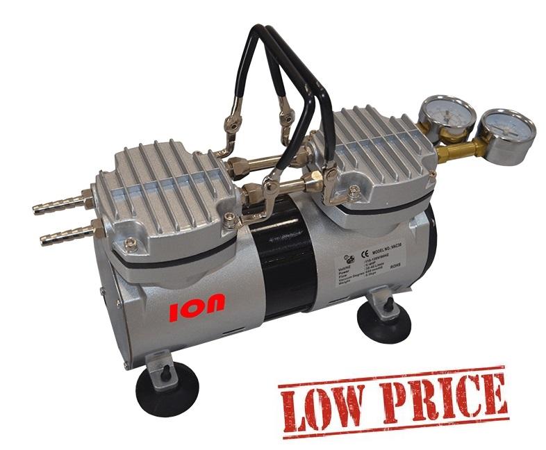 Bomba de Vácuo e Compressor – Isento de Óleo – Vácuo Final 650 mmhg