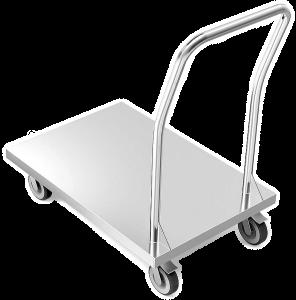Carrinho em Aço Inox Com Plataforma
