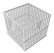 Cesto Quadrado ou Retangular Em Aço Inox