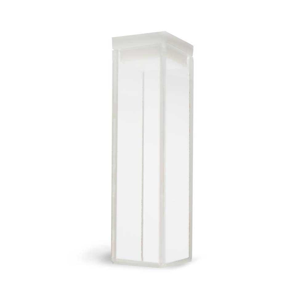 Cubeta de Quartzo Quadrada, 10 mm, Volume de 3,5ml 4 Faces Polidas