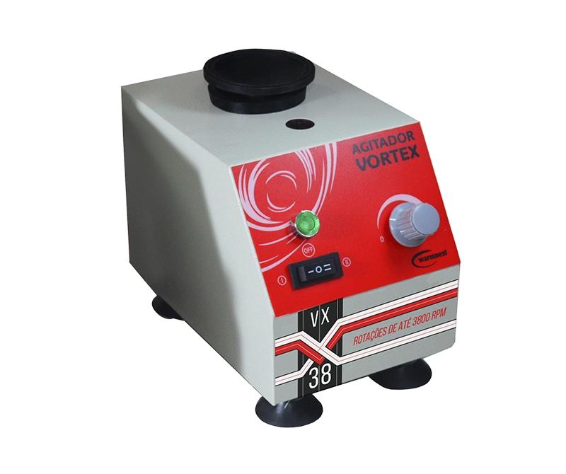 Agitador de Tubos tipo Vortex Velocidade de até 3.800 RPM