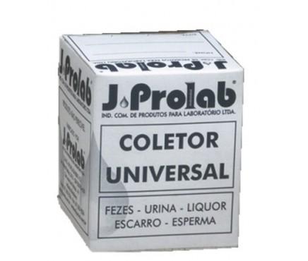 Frasco Coletor Universal Graduado 80ml Tampa 9mm – Em Polipropileno (Transparente)