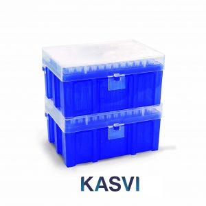 Ponteiras Com Filtro Livre de Rnase, Dnase e Pirogênios marca Kasvi Rack c/ 96 Unidades