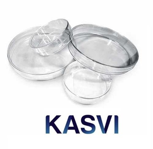 Placa de Petri 90x15mm Descartável pct c/10 Unidades Kasvi
