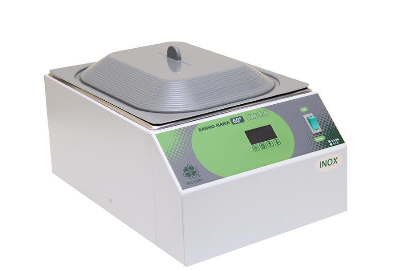 Banho Maria Digital 9,5 litros Microprocessado Temperatura até 60ºC