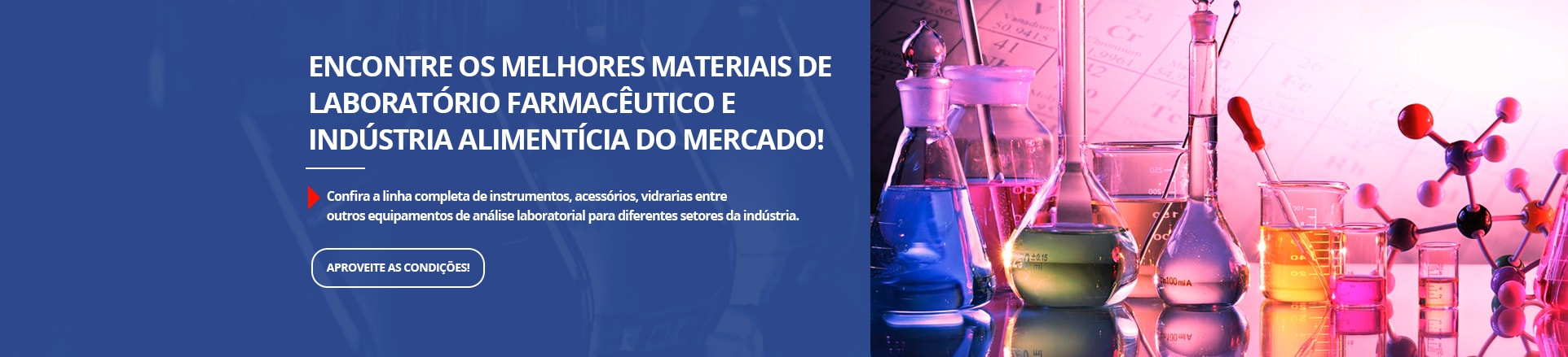 Materiais de labortórios Farmacêutico e Indústria alimentícia